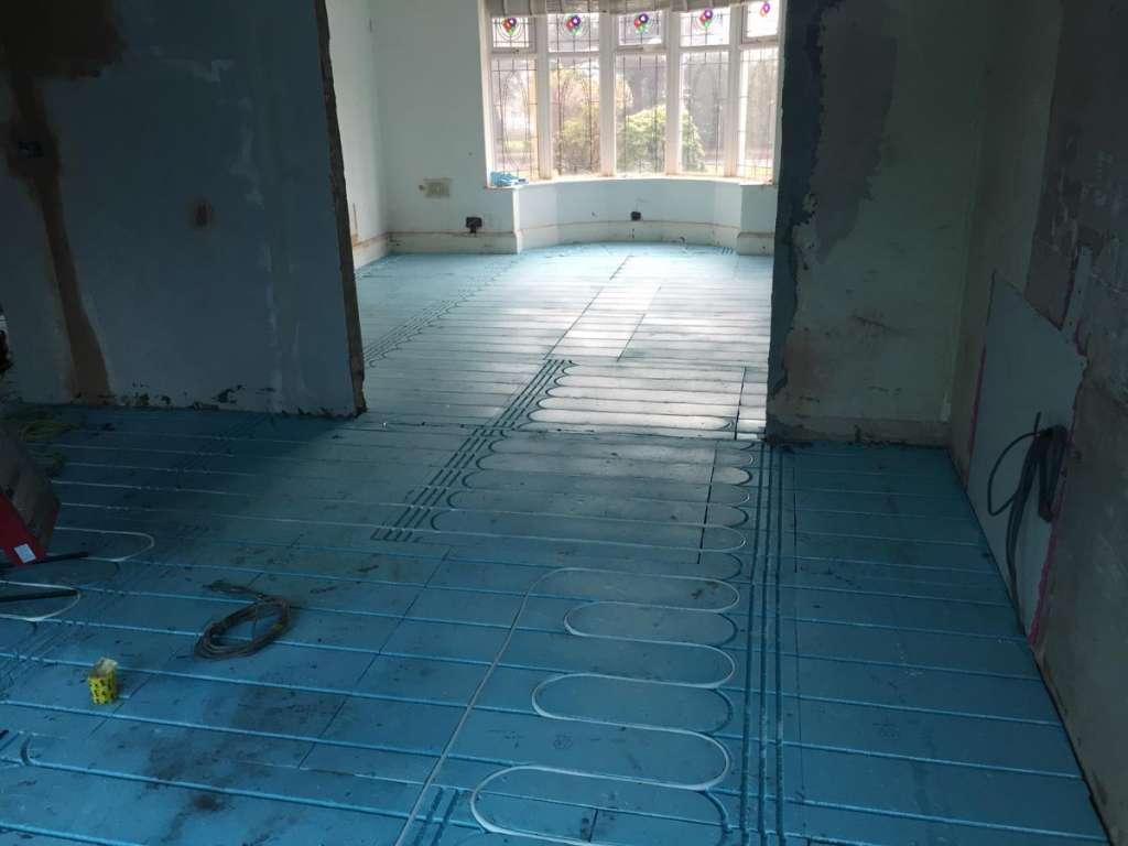 Underfloor heating installation 2