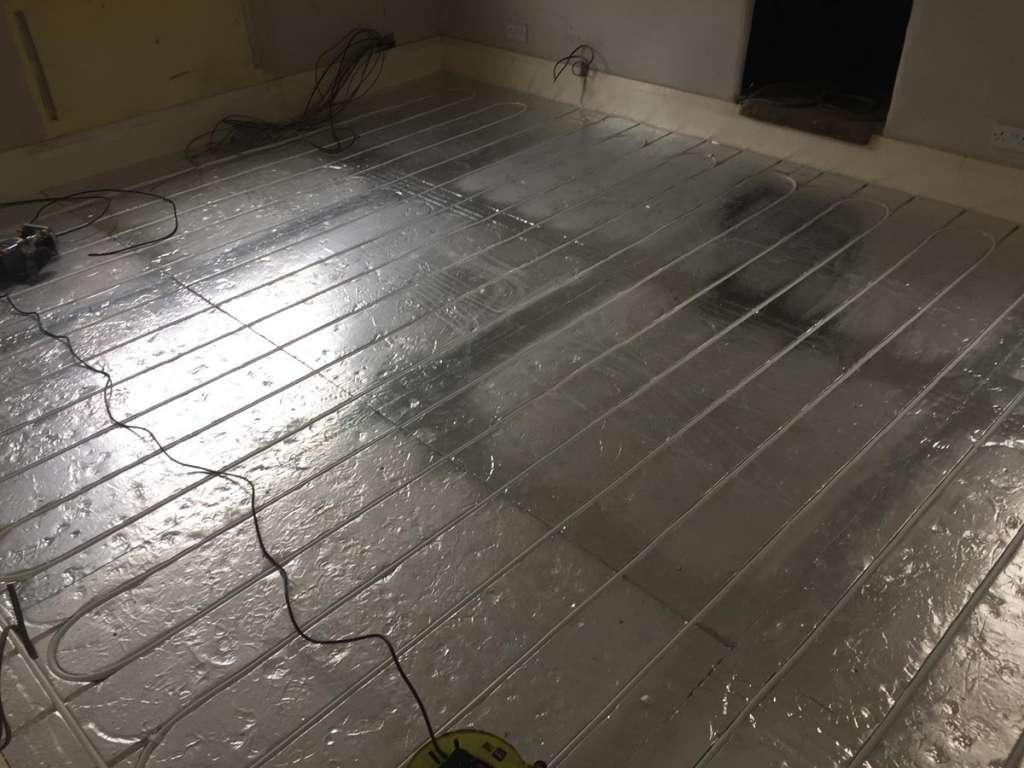 Underfloor heating installation 4