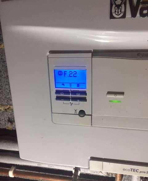 F22 fault Vaillant ecoTec pro – HELP